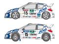 SHUNKO D347 1/24 プジョー 206 WRC 1999 フィンランド /サンレモ デカールセット (タミヤ対応)【メール便可】