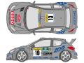 SHUNKO D348 1/24 プジョー 206 WRC 2000 モンテカルロ デカールセット (タミヤ対応)【メール便可】