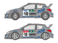 SHUNKO D349 1/24 プジョー 206 WRC 2000 スウェーデン /サンレモ デカールセット (タミヤ対応)【メール便可】