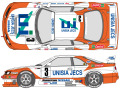 SHUNKO D360 1/24 Unisia Jecs Skyline GT-R R33 1996 decal set (for Tamiya) 【メール便可】