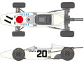 SHUNKO D364 1/20 Honda RA272 1965 Late ver. decal set (for Tamiya) 【メール便可】