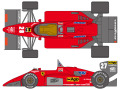 SHUNKO D366 1/24 Ferrari 156/85 1985 Early ver. decal set (for Protar) 【メール便可】