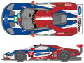 SHUNKO D367 1/24 Ford GT Team USA 2018 Daytona/LM decal set (for Revell) 【メール便可】