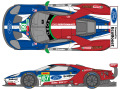 SHUNKO D368 1/24 Ford GT Team UK 2018 Spa/LM decal set (for Revell) 【メール便可】