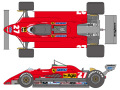 SHUNKO D370 1/24 Ferrari 126C2 1982 decal set (for Protar) 【メール便可】