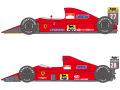 SHUNKO D372 1/24 Ferrari 640&642 decal set (for Hasegawa) 【メール便可】
