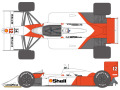 SHUNKO D375 1/20 McLaren MP4/4 1988 decal set (for Tamiya) 【メール便可】