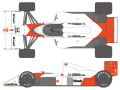 SHUNKO D376 1/20 McLaren MP4/5 1989 decal set (for Tamiya) 【メール便可】