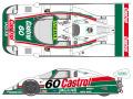 SHUNKO D402 1/24 Jaguar XJR-9 Castrol Daytona 1988 decal set (for Hasegawa) 【メール便可】