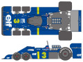 SHUNKO D403 1/20 Tyrrell P34 1976 Sweden/Japanese GP decal set (for Tamiya) 【メール便可】