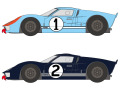 SHUNKO D417 1/24 Ford GT40 Le Mans 1966 #1/2 decal set (for Fujimi) 【メール便可】