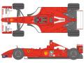 SHUNKO D419 1/20 Ferrari F2001 2001 decal set (for Tamiya) 【メール便可】