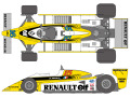 SHUNKO D420 1/12 Renault RE20 1980 decal set (for Tamiya) 【メール便可】