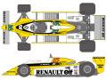 SHUNKO D420 1/12 Renault RE20 1980 decal set (for Tamiya) 【メール便可】