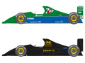 SHUNKO D424 1/20 Jordan 191 1991 Early ver. / Test  decal set (for Tamiya) 【メール便可】