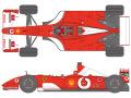 SHUNKO D425 1/20 Ferrari F2001B 2002 Australia GP decal set (for Tamiya) 【メール便可】