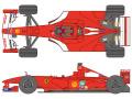 SHUNKO D426 1/20 Ferrari F1-2000 decal set (for Tamiya) 【メール便可】