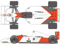 SHUNKO D427 1/20 McLaren MP4/7 decal set (for Tamiya) 【メール便可】