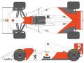 SHUNKO D428 1/20 McLaren MP4/8 decal set (for Tamiya) 【メール便可】