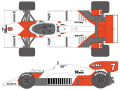 SHUNKO D429 1/20 McLaren MP4/2 1984 decal set (for Beemax) 【メール便可】