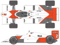 SHUNKO D430 1/20 McLaren MP4/2B1985 decal set (for Beemax) 【メール便可】