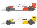 SHUNKO D431 1/20 McLaren MP4/2C 1986 decal set (for Nunu) 【メール便可】