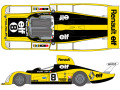 SHUNKO D442 1/24 Renault A442 1977 LM decal set (for Tamiya) 【メール便可】