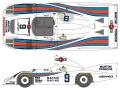 SHUNKO D447 1/24 Porsche 936/80 Martini LM 1980 decal set (for Tamiya) 【メール便可】