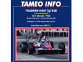 TAMEO kit SLK112 Toleman Hart TG183B Olanda GP 1983 Warwick /Giacomelli