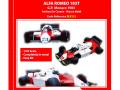 TAMEO kit SLK121 Alfa Romeo 183T Monaco GP 1983 A.de.Cesaris / M.Baldi