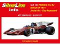 TAMEO SLK127 Ferrari 312B2 British GP 1971 J.Icks /C.Regazzoni