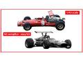 TAMEO SLK128 Ferrari 312 F1-68 Canada GP 1968 C.Amon /J.Ickx