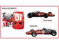** 予約商品 ** TAMEO kit SLK131 Ferrari 312 F1-68 South Africa GP 1968 C.Amon / J.Ickx / A.De.Adamich