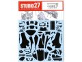 【お取り寄せ商品】 STUDIO27デカール CD12001 1/12 Yamaha YZR-M1 2009 Carbon Decal (for Tamiya) 【メール便可】