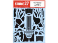 STUDIO27デカール CD12005 1/12 RC213V 2014 Carbon decal (for Tamiya) 【メール便可】