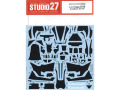 STUDIO27デカール CD12008 1/12 Ninja ZX-RR Carbon decal (for Tamiya) 【メール便可】