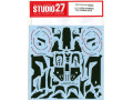 STUDIO27デカール CD12010 1/12 CBR1000RR-R Dry Carbon decal (for Tamiya) 【メール便可】