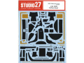 STUDIO27デカール CD24035 1/24 Toyota TS050 LM 2018 Carbon decal (for Tamiya) 【メール便可】