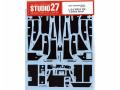 STUDIO27デカール CD24029 1/24 XJR-9 LM カーボンデカール 【メール便可】