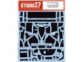STUDIO27デカール CD24032 1/24 メルセデス CLK-GTR カーボンデカール 【メール便可】