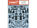STUDIO27デカール CD24034 1/24 Ford GT Carbon decal (for Tamiya) 【メール便可】