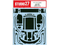 STUDIO27デカール CD24037 1/24 Audi R8 LMS GT3 Carbon decal (for NuNu) 【メール便可】
