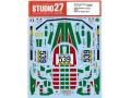 STUDIO27デカール DC1221 1/24 Lancia Stratos #539 Giro D' Italia 1977 for Tamiya 【メール便可】
