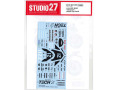 STUDIO27デカール DC1224 1/12 Yamaha YZF-R1M TECH21Dress up Decal (for Tamiya) 【メール便可】
