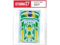 STUDIO27デカール DC1237 1/24 McLaren Senna XP Brazil #1 Dress up decal for Tamiya 【メール便可】