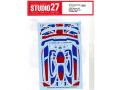 STUDIO27デカール DC1238 1/24 McLaren Senna XP British #8 Dress up decal for Tamiya 【メール便可】