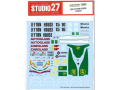 STUDIO27デカール DC783 1/20 Leyton House CG901B 1990 decal for Tamiya 【メール便可】