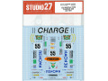 STUDIO27デカール DC959 1/24 Mazda 787B CHARGE #55 LM 1991 (for Tamiya) 【メール便可】