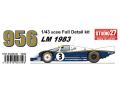 【お取り寄せ商品】 STUDIO27 FD43004 1/43 ポルシェ 956 Rothmans LeMans 1983