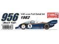 【お取り寄せ商品】 STUDIO27 FD43009 1/43 ポルシェ 956 Rothmans 1982 (Short tail)